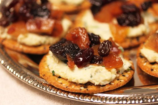 Spirited Fruit and Cheese hors d'Oeuvres - lovely party appetizer, especially for a special occasion or holiday dinner
