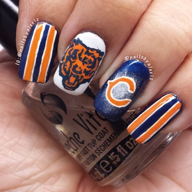 Best 25+ Chicago Bears Nails Ideas On Pinterest