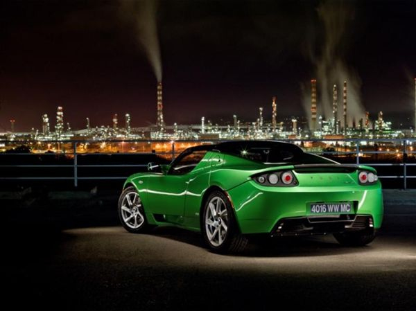 Tesla sports car 2014 green - Google Search