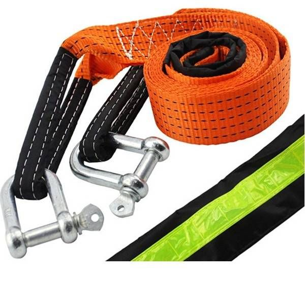 4 Meters Enhanced Car Trailer Rope For 5 Tons with Reflective Stripe PullingRope TowRope