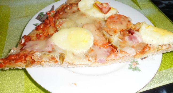 Pizza magyarosan zabpehelylisztből