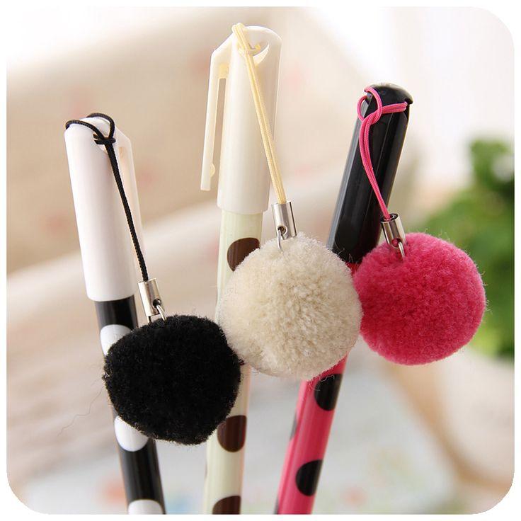 free shipping! cute kawaii pen Korea stationery hair ball pen animal unisex pen fine 0.38mm refill /wholesale/dropshipping-inGel Pens from Office School Supplies on Aliexpress.com $35.97