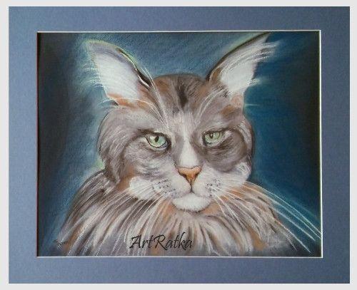 Rysunek ręcznie wykonany - pastela sucha - ArtRatka - Rysunki pastelami