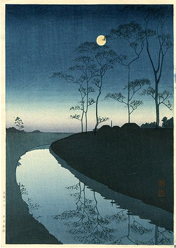 Canal Under the Moonlight | Shoda Koho, Japan 庄田耕峰