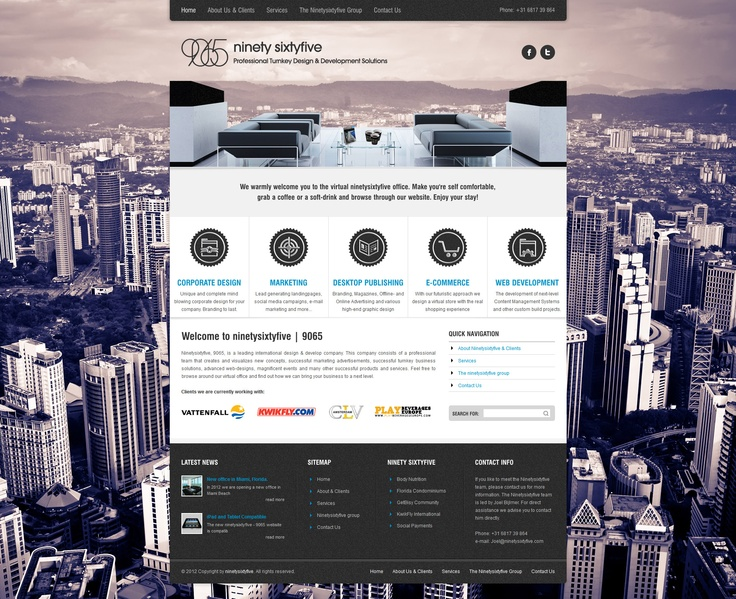 Amazing Webpage from Arctica WP Theme with creative implementation of revolution slider www.ninetysixtyfive.com made by Webdesigner Joel Bijlmer.    Author's Webpage: www.JoelBijlmer.com  Arctica WP Theme: http://preview.ait-themes.com/index.php?bartype=desktop=arctica