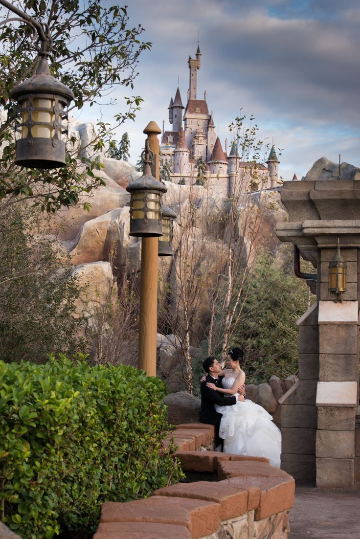 Weddings at disney parks and resorts - We Are In Love With This View Of The Beast S Enchanted Castle In Fantasyland I Need This For Our Wedding Photo Reshoot