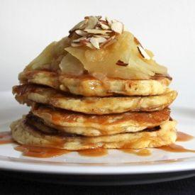 Caramel, Apple, And Almond Buttermilk Pancakes [PicNic_NZ]