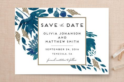 MINTED - Watercolor Delight Save The Date Cards