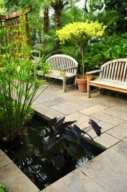 104 best koi pond images on pinterest | raised pond, garden ideas ... - Small Patio Pond Ideas