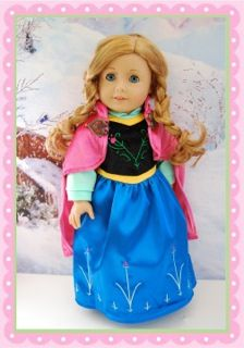 """Frozen Princess Anna & Elsa outfits for 18"""" dolls preorder for holidays"""