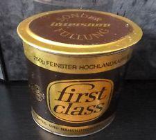 DDR Blech Kaffeedose first class VEB Kaffee Nährmittel Halle DELIKAT INTERSHOP