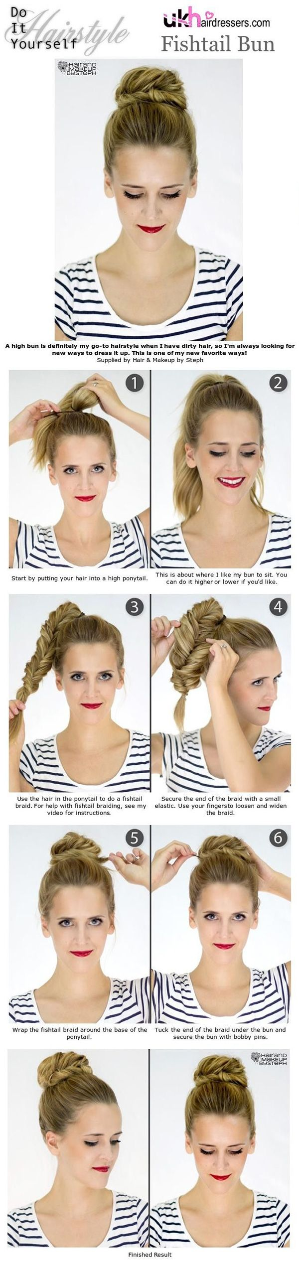 15 Easy No-Heat Hairstyles For Dirty Hair, Long Or Short | Gurl.com Another perfect dance bun