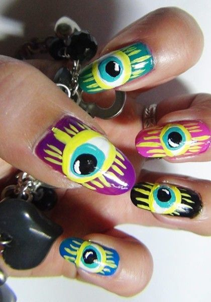 Best 25 weird nails ideas on pinterest amazing nails galaxy 2 weird nail art designs that you can try today prinsesfo Images