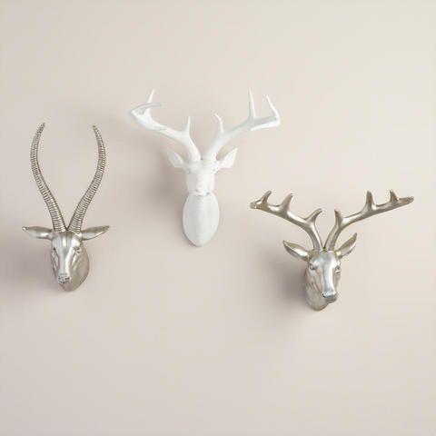 Matte White Stag Head Sculpture   World Market