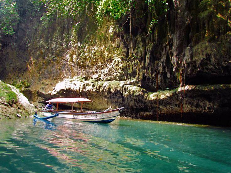 Perahu nelayan Green Canyon