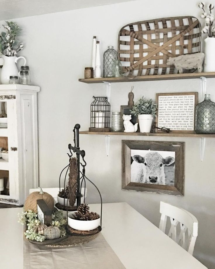 See This Instagram Photo By Simplyshannahome O 297 Likes Dining Wall DecorDining Room ShelvesFarmhouse Kitchen