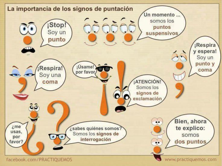 Reglas de ortografía y puntuación: material visual | Educación y Cultura: Revista AZ