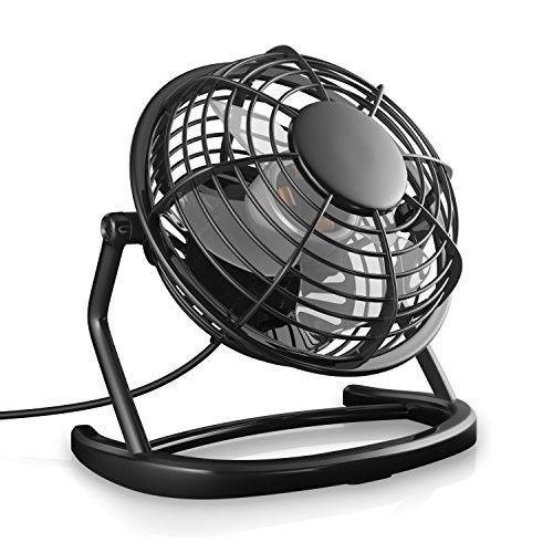 Small Desk Fan USB Laptop Pc Portable Home Office Black Quiet Operation Mute