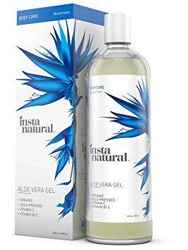Gel de Aloe Vera de InstaNatural - Tratamiento hidratante puro y orgánico para hombres y mujeres - Para quemaduras solares, erupciones, heridas de afeitar y más alivio - Cuidado natural para el sol, picadas de insectos y rasguños - 480 ml