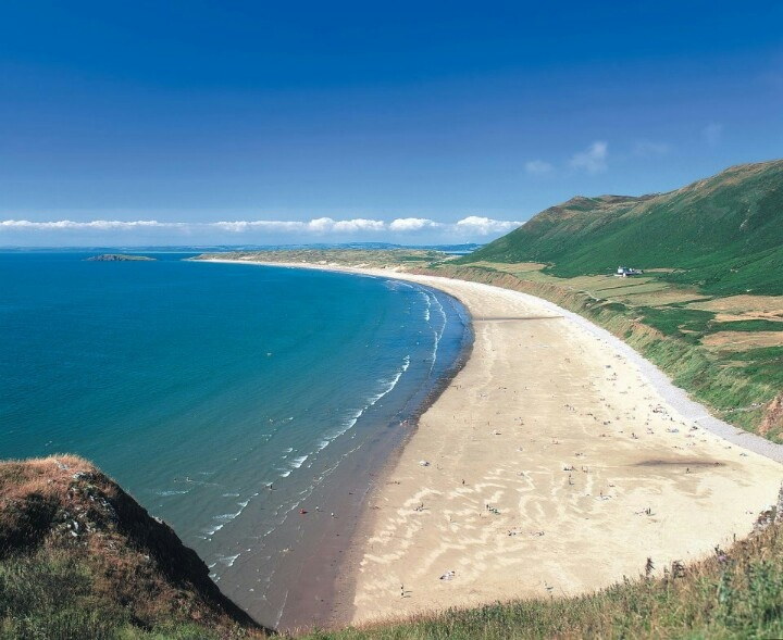 Llangeneth. Rhossili Bay, Gower Peninsula Wales. Awesome!