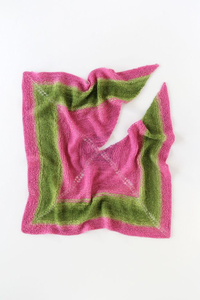Get your hands on this fun, free & easy pattern for a square knit shawl, perfect to show off those fancy, one-skein yarns you haven't quite found the right use for!