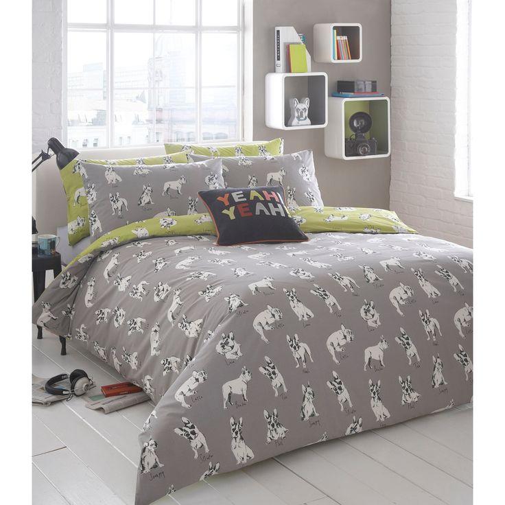 46 best boys bedrooms images on pinterest duvet cover sets ben de lisi home sketchy dog bedding set debenhams gumiabroncs Images