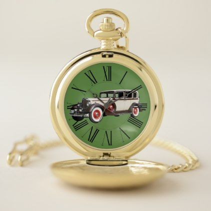 OLD CAR-1 POCKET WATCH - fathers day best dad diy gift idea cyo personalize father family