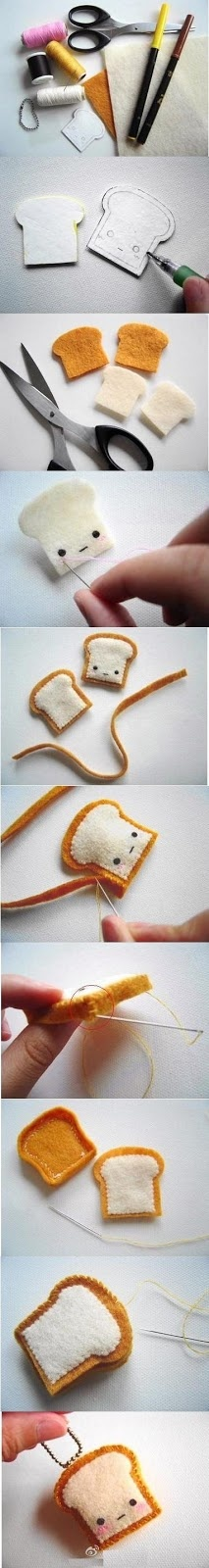 DIY felt keychain, omg these are sooo cute! (i might just have to make one or two or more)