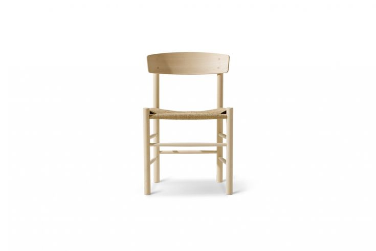 The vintage Børge Mogensen J39 Shaker Chairs are, like the dining table, still produced through Fredericia Furniture. The chairs are $545 each at Danish Design Store.