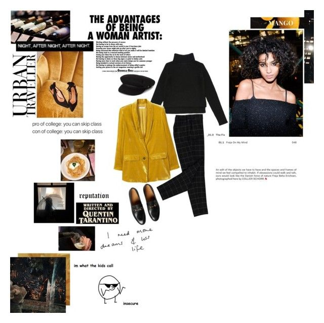 I Wanna Be Adored by spacelava on Polyvore featuring polyvore fashion style Alexander Wang MANGO Gucci Brixton clothing
