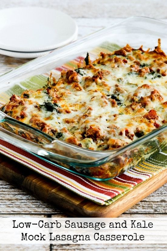 Low-Carb Sausage and Kale Mock Lasagna Casserole (Video)