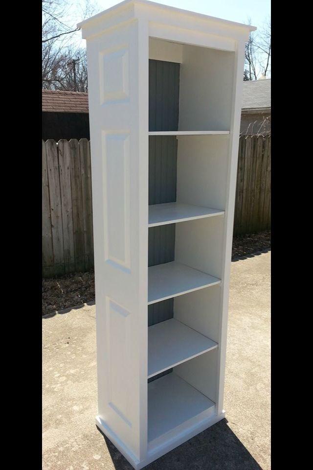 Folding closet doors made into storage shelf