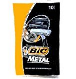 Bic Metal Quality Disposable Mens Shaving Razors Best Single Blade 10-count