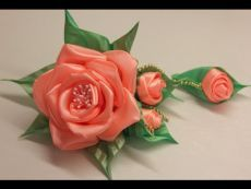 Volume flower of satin ribbon Workshop / Surround the flower of satin ribbon. Master class