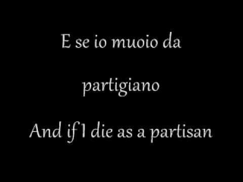 Gómez Naharro - Bella Ciao with lyrics - When learning a people's language its always good to learn one or more well known songs. Bella Ciao was sung during WWII and is about the partisans fighting against Hitler and Mussolini. Not the best musical version, but the best with captions in Italian so you can learn the Italian lyrics.