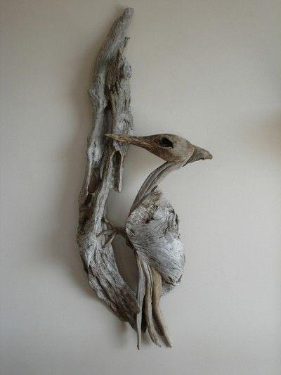 Driftwood woodpecker by artist Vincent Richel