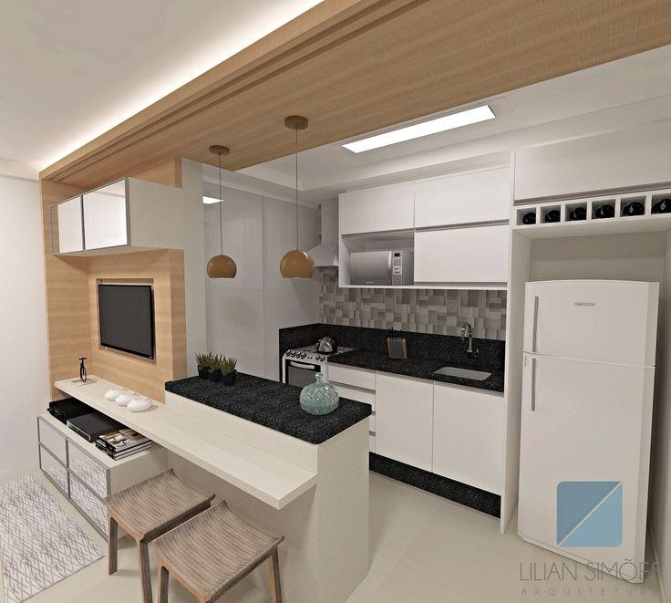 17 mejores ideas sobre sala integrada com cozinha en pinterest ...