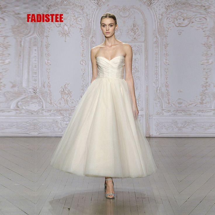 2017 Новое прибытие элегантный свадебное платье платье de Festa стиль платье без бретелек, босоножки, pleat платье бесплатная доставка купить в магазине Suzhou True Love Dress на AliExpress