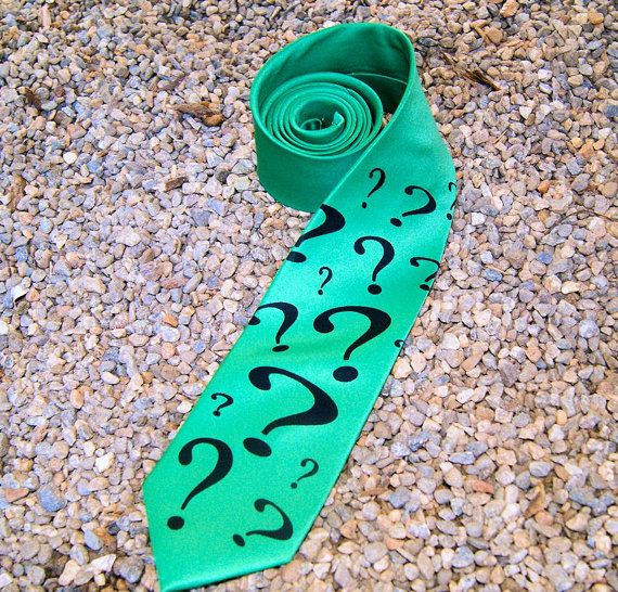Green / Purple Riddler Question Mark Geeky Cosplay Mens ...
