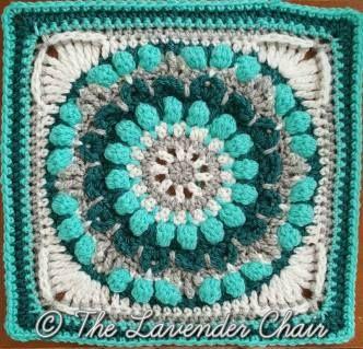 Petunia Round About Mandala Crochet Square Pattern