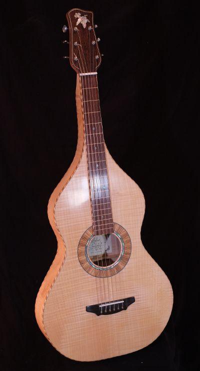 Curly maple weissenborn slide guitar.