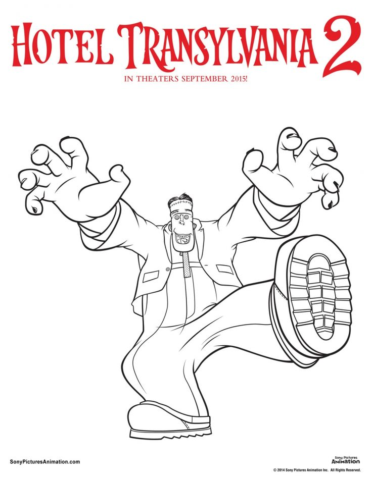 Frankenstein Hotel Transylvania Coloring Page Hotel