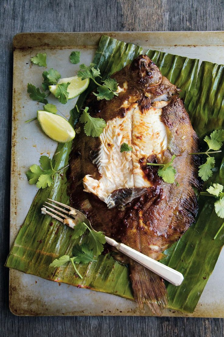 Barbecued Sambal Lemon Sole - The Happy Foodie