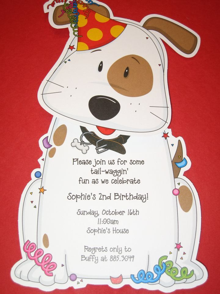 11 best images about Dog Birthday Party Invitations – Dog Party Invitation
