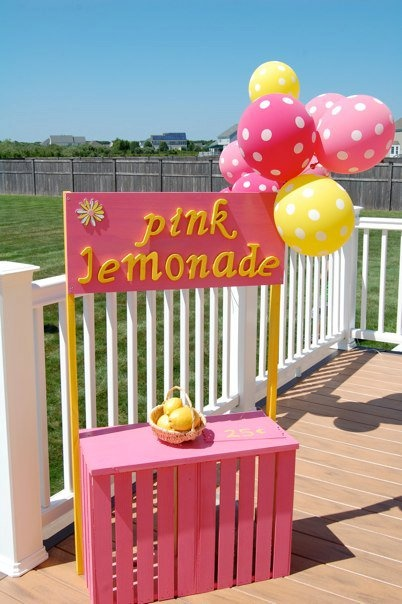 lemonade stand for party