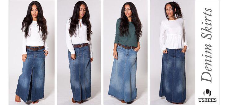 Denim Skirts Online - long, mid-length and short denim skirts available!