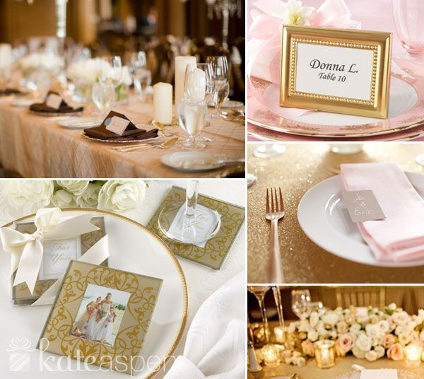 Golden Brocade Elegant Glass Photo Coasters Place Card Frame Holder Wedding Favors At Affordable Prices
