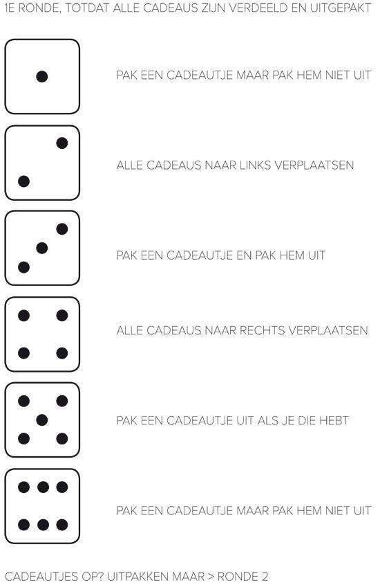 sinterklaas dobbelspel ronde 1 van 2