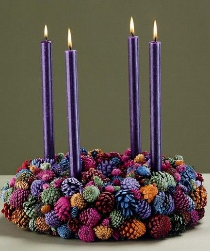 Christmas craft from pinecones photo.