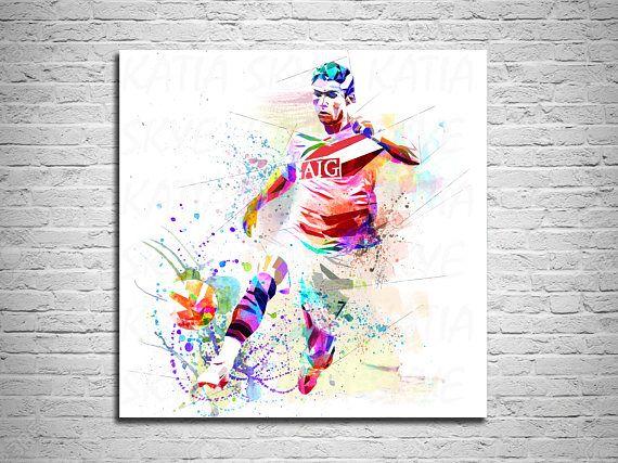 CANVAS PRINT Soccer Art Cristiano Ronaldo Soccer Player